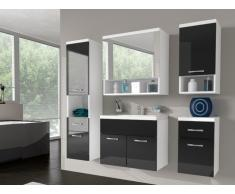 Ensemble LUISA - meubles de salle de bain - laqué noir