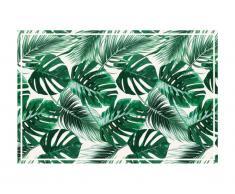 Tapis en vinyle style ethnique SIERRANA - 120x180 cm - vert et blanc