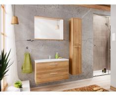 Ensemble KAYLA - meubles de salle de bain 80cm - effet bois
