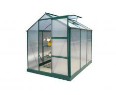 Serre de Jardin en polycarbonate de 3,4m² GIARDINA avec embase