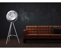 Lampadaire cinéma industriel MOVIE - H. 166 cm - Bicolore intérieur argenté extérieur blanc de la marque INSIDEART