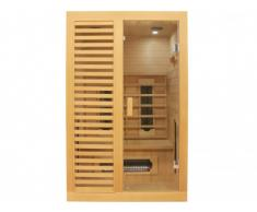Sauna infrarouge 2 places EVERETT - L120 x P100 x H190cm - 1750W