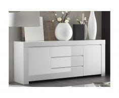 Buffet CETARA - 2 portes & 3 tiroirs - Blanc laqué