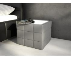 Chevet design ELYO - Simili gris avec LEDs