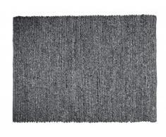 Tapis SIA tissé main en laine WAKA - 160x230cm - Coloris charbon