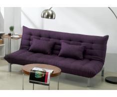 Canapé 3 places clic clac en tissu HORNET - Violine