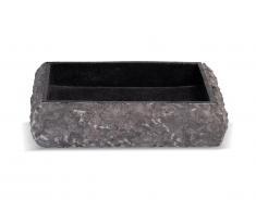 Vasque de salle de bain en marbre RIVER - Couleur grise