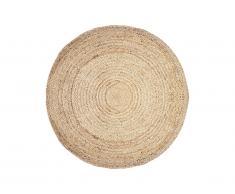 Tapis rond JAIPUR - 100% Jute - D. 150 cm - Naturel