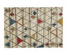 Tapis style berbère ANNAZ - 100% Laine - 160*230 cm - Multicolore