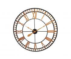 Horloge murale BANGOR - métal - D.60cm - doré et noir