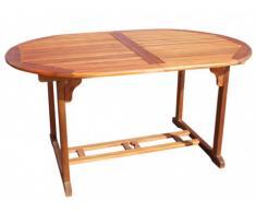 Table à manger de jardin extensible CEBU en acacia
