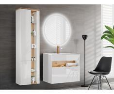 Ensemble LUNA - meubles de salle de bain - blanc