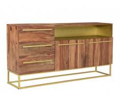 Buffet OREGAN - 2 portes, 3 tiroirs & 1 niche - Bois de Sheesham