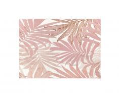 Tapis intérieur ou extérieur ethnique motifs feuilles ROCETA - 150 x 200 cm - Rose