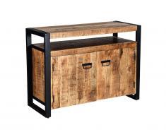 Buffet HARLEM - 2 portes - Bois de Manguier & métal