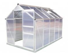 SOLDES - Serre de Jardin en polycarbonate de 5.92m² SINCERA avec embase
