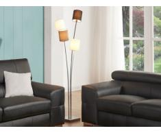 Lampadaire à 4 pieds VARIETA en métal et tissu - H.160 cm