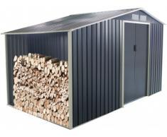 Abri de jardin en acier galvanisé gris AGATO - 12,95m²