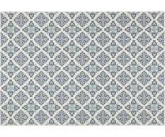 Tapis intérieur et extérieur mosaïque MOSQUEE - Polypropylène - 160 x 230 cm - Bleu