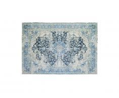 Tapis effet usé BRUGES - 100% Polyester - 200 x 290 cm - Bleu