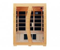 Sauna infrarouge 3 places EDVIN - L150*P120*H190 cm - 2200W