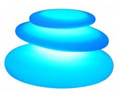 Lampe à poser galets FACIES - couleurs changeantes - 42x35x28 cm