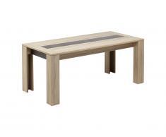 Table à manger SUMAI - 6 couverts - Coloris chêne & marron