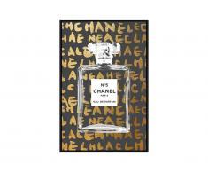 Poster photo encadré DARK - 60 x 90 x 2,5 cm - doré et noir