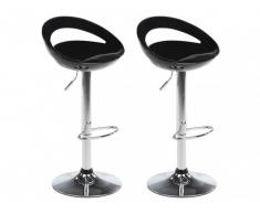 Lot de 2 tabourets de bar BOOGLE - Coloris noir