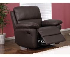 Fauteuil relax en cuir MILAGRO - chocolat