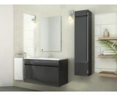 Ensemble KAHI - meubles de salle de bain - Laqué gris