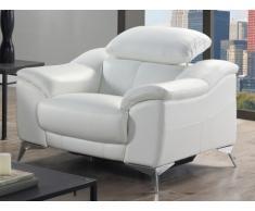 Fauteuil relax électrique en cuir DALOA - Blanc