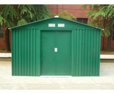 Abri de jardin en acier galvanisé vert MAXITA II vert - 9.3m²