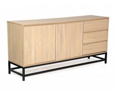 Buffet NEMIO - 2 portes & 3 tiroirs - Coloris: Chêne