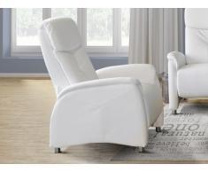 Fauteuil relax LOCARI en simili - Blanc