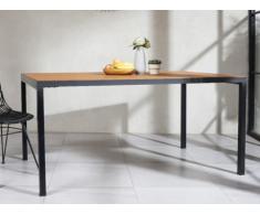 Table à manger MALILI - 6 couverts - Teck massif & Métal
