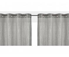 Lot de 2 rideaux à oeillets FIGUIERA - 100% lin - 140x260cm - Gris clair
