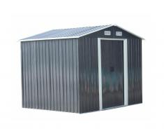 Abri de jardin en acier galvanisé gris MANSO - 5,2 m²