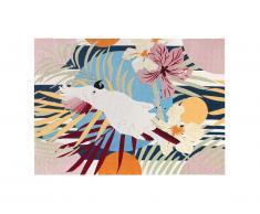 Tapis intérieur ou extérieur ethnique PERROCO - 150 x 200 cm - Multicolore