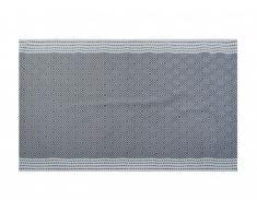 Tapis style contemporain AYMERIC - 100% Coton - 140 x 200 cm - Gris