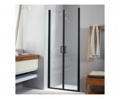 Porte de douche battante MAILYS - 80x190cm - Noir