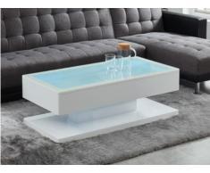 Table basse BOREAL - MDF laqué blanc - LEDs