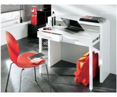 Console bureau SISKO - 2 tiroirs - Bouleau - Coloris blanc