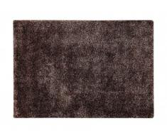 Tapis shaggy COCOON chocolat - polyester - 120*170 cm