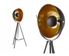 Lampadaire cinéma industriel MOVIE - H. 166 cm - Bicolore intérieur doré extérieur noir de la marque INSIDE ART