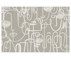 Tapis en vinyle style design YAGO - 120 x 180 cm - Beige