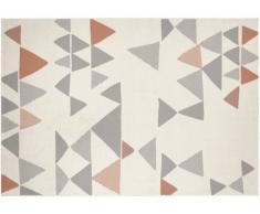 Tapis style contemporain COIMBRA - 100% Polypropylène - 120x170cm - Beige, gris et bronze
