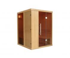 Sauna traditionnel Finlandais 3/4 places MARIBO - 150x150x200 - vitres teintées