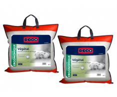 Lot de 2 oreillers DODO ergonomiques à mémoire de forme - 60x60 cm - VEGETAL