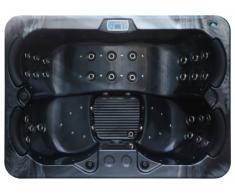 SPA 4 personnes THEMISE II - Noir nacré - 46 jets - l210 x L152 x H78 cm
